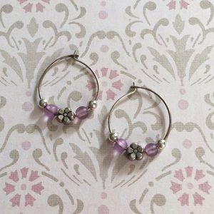 🌸3for$15 Flower Hoop Earrings